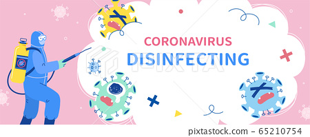 COVID-19 disinfection banner 65210754