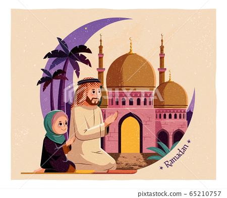 Ramadan celebration card 65210757