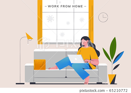 Work from home to avoid COVID-19 65210772