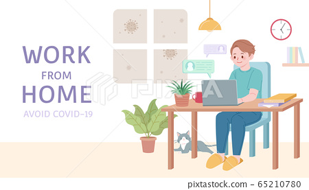 Work from home banner 65210780