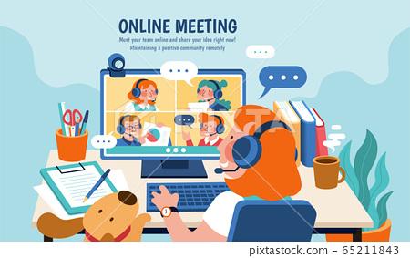 Online meeting banner 65211843