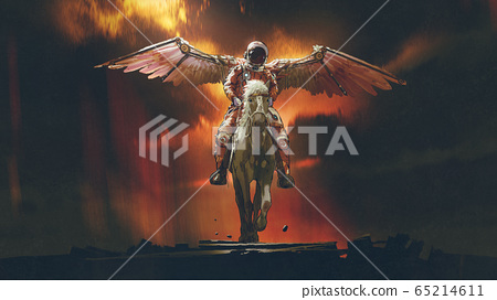 space knight with god's wings 65214611