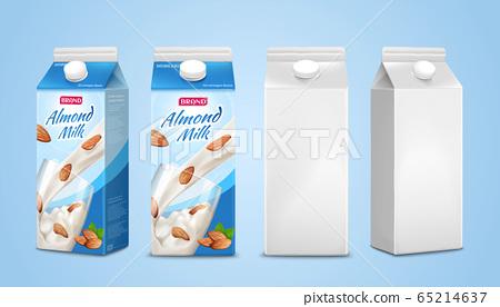 Almond milk package design 65214637