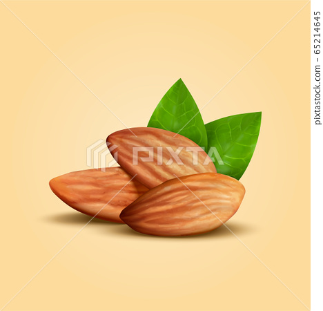 Whole shelled almond seeds 65214645