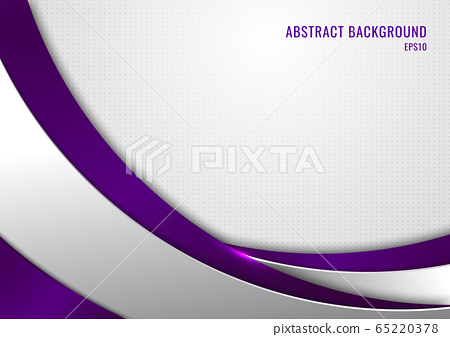 Abstract template purple and gray curve on square 65220378