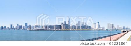 Harumi Pier (Tokyo Olympic Village) from Toyosu 65221864