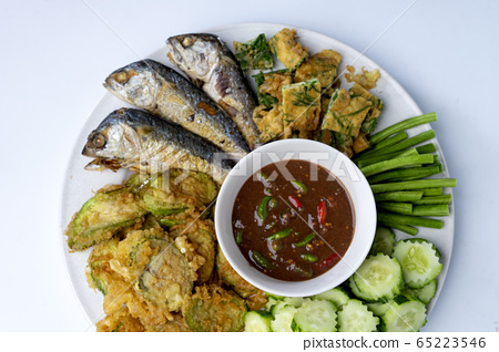 Thai food chill paste with mackerel fish 65223546