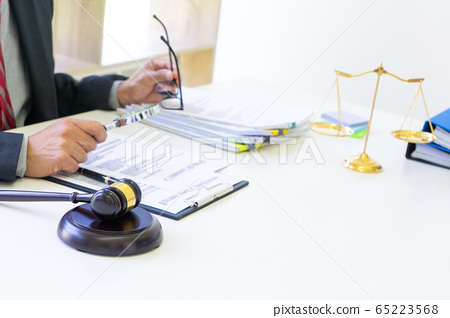 Lawyer work On the table in the  office 65223568
