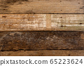 Texture of old wood board 65223624