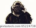 Portrait of post apocalyptic survivor in gas mask 65224738