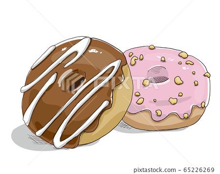 미리뻰과 마커로 그린듯한 도넛 65226269