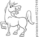 horse farm animal character coloring book page 65227449