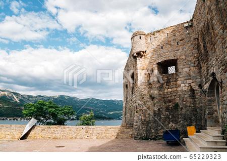 Budva Citadel fortress with adriatic sea in Budva, Montenegro 65229323