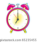 Alarm clock ringing at the morning. Comic pop art retro style 65235455