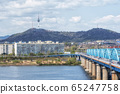 namsan tower and han river 65247758