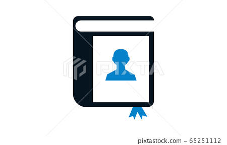 address book icon-contact illustration- directory vector-telephone isolated-bookmark icon-notebook illustration 65251112