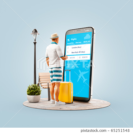 Unusual 3d illustration smart phone application 65251548