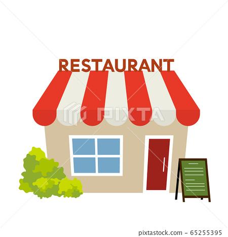圖庫插圖:餐廳飯店餐廳 65255395