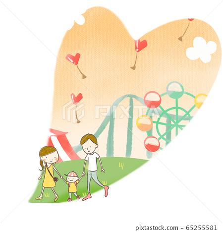 遊樂園家庭度假暑假 65255581