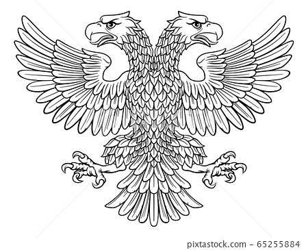 Double headed Imperial Eagle with Two Heads 65255884