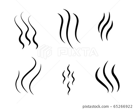 Modern vector illustration of aroma icon. Steam icon set isolated on white background. Smell sign, wave symbol. Logo for design template. 65266922