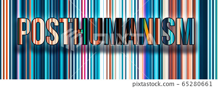 Posthumanism theme with abstract network lines 65280661