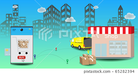 Online delivery service concept, Logistics and 65282394