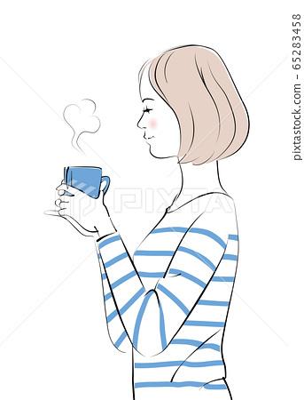 Woman_Coffee Break 2 65283458