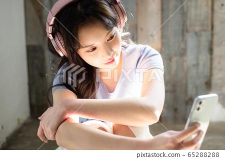 라이프 스타일 여성 아시아인 1인 포트레이트 65288288