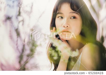뷰티 미용 여성 아시아인 포트레이트 65288428