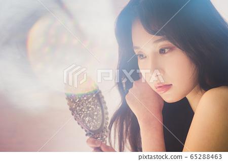 뷰티 미용 여성 아시아인 포트레이트 65288463