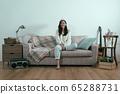beautiful asian korean woman in sweater relax 65288731