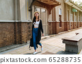 copy space full length young asian korean girl 65288735