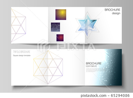 Vector layout of square format covers design 65294086