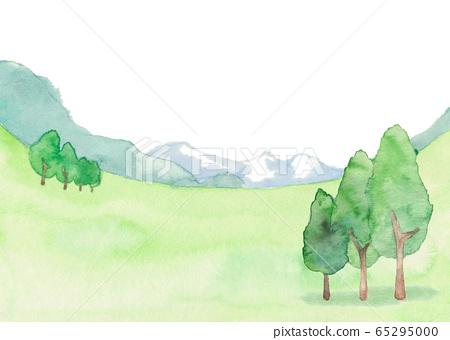 草地景觀,站立的樹木 65295000