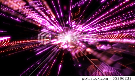 Digital cyberspace with particles and Technology 65296832
