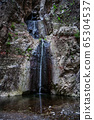 Waterfall in Barranco del Infierno Hell Gorge in 65304537