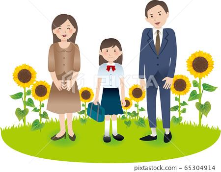 與父母和初中女孩的暑期活動 65304914