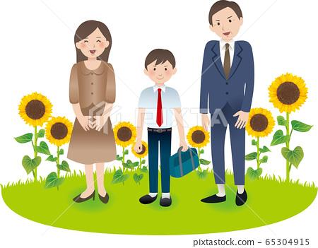 與父母和中學男孩的夏季活動 65304915