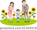 부모와 초등학생 소년 여름 가을 행사 65304918