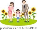 부모와 초등학생 여아 여름 가을 행사 65304919