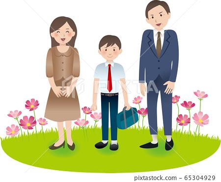 與父母和初中男孩的秋季活動 65304929