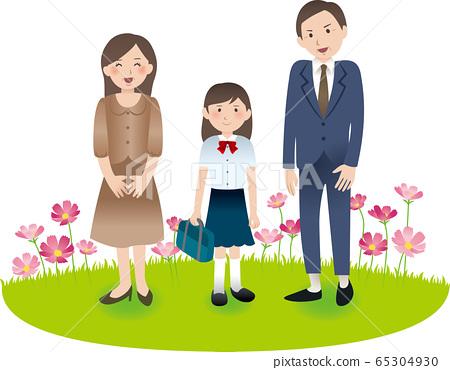 與父母和初中女生的秋季活動 65304930