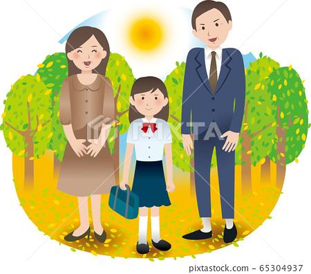 與父母和初中女孩的暑期活動 65304937
