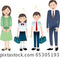 부모와 중학생의 아이들 65305193