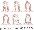 피부 관리를하고있는 여성의 일러스트 65313876