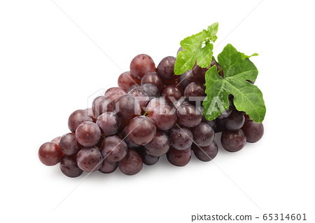 Large bunch fresh ripe organic red grape with 65314601