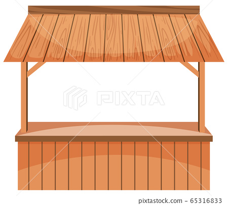 Wooden vendor on white background 65316833