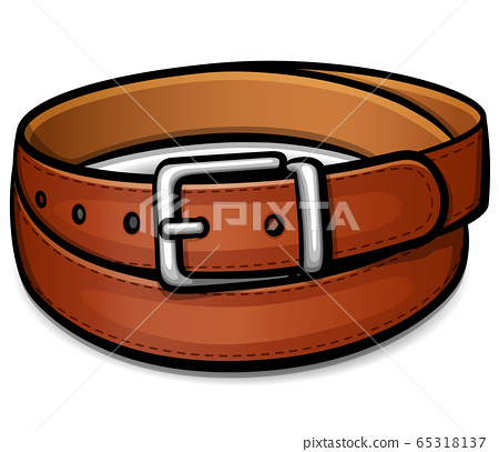 Vector belt isolated drawing design 65318137