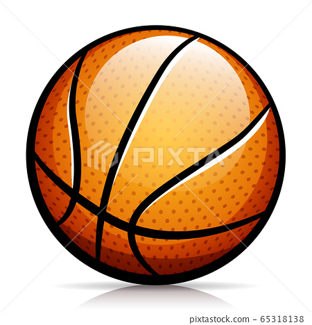 Vector basketball ball isolated design 65318138